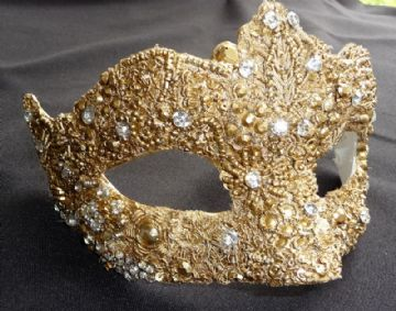 Baroque style gold filigree masquerade mask 6